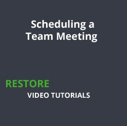 Scheduling a Team Meeting