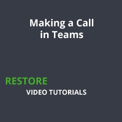 Making a Call in Teams
