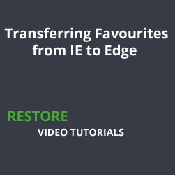 Transferring Favourites from IE to Edge