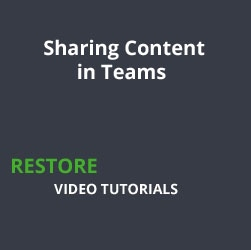 Sharing Content in Teams