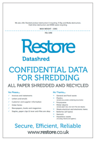 Confidential data for shredding