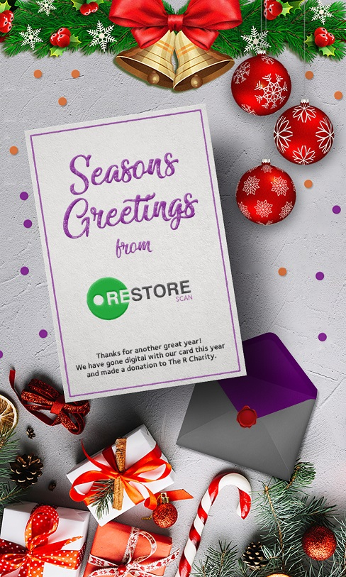 Revealed! This Year's Restore Scan Christmas Card